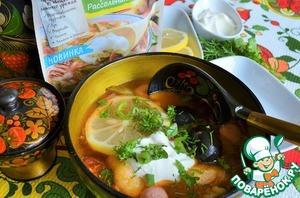 Суп-солянка с цветной капустой