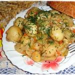 Молодой картофель в рассольном соусе