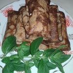 Печеночные блинчики с сырной начинкой