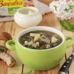Картофельный суп с грибами и крапивой