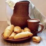 Картофельно-сырные рогалики