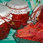 Вяленые томаты и перец в электросушилке