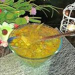Куриный суп с брокколи и горошком