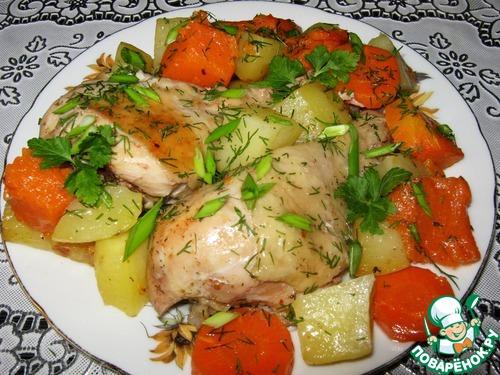 Куриные бедра в рукаве рецепт с фото