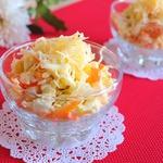 Салат овощной с сыром и яблоком