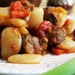 Яхния с бараниной и фасолью
