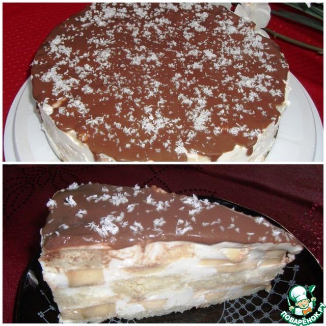 Торт банановый рецепт с фото пошагово в домашних условиях 510