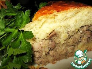 """Рецепт: Пирог """"Мужской"""" с рубленым мясом"""