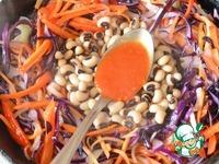 Холодный овощной салат горячим способом ингредиенты