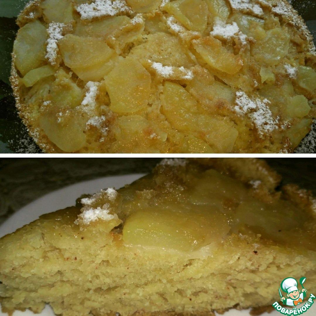 Постный яблочный пирог пошагово