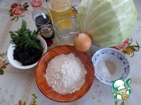 Заливной постный пирог с капустой ингредиенты