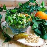 Салат с авокадо и кедровым орехом