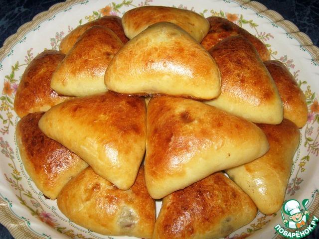 пирожки с мясом и рисом пошаговое фото