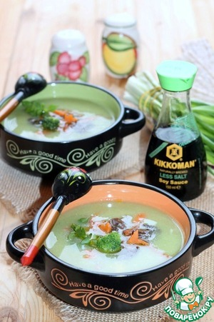 Суп-пюре с брокколи и чечевицей