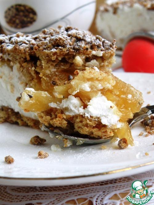 Торт «Яблочко на облачке»