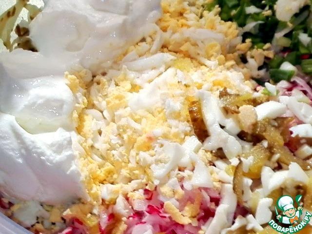 Весенний каприз салат рецепт с
