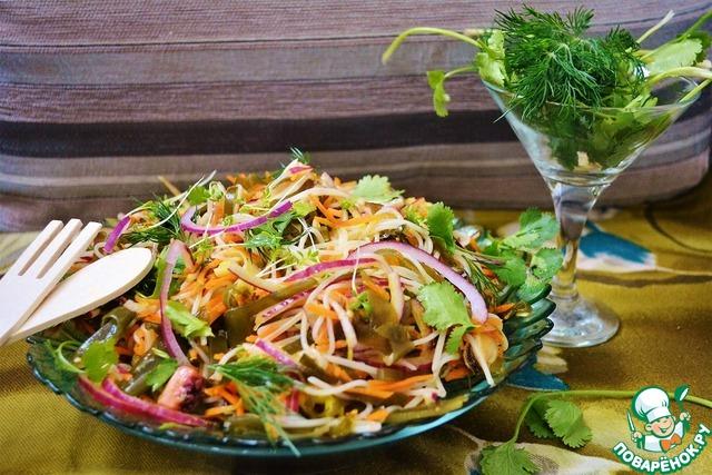 Салат из морского коктейля рецепт с с рисом