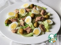 Салат из печени трески с перепелиными яйцами ингредиенты