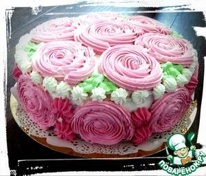 Рецепт: Торт со сливками и ягодным компоте
