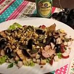 Салат с шашлыком