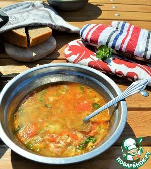 "Рецепт: Суп ""Дачный харчо"""