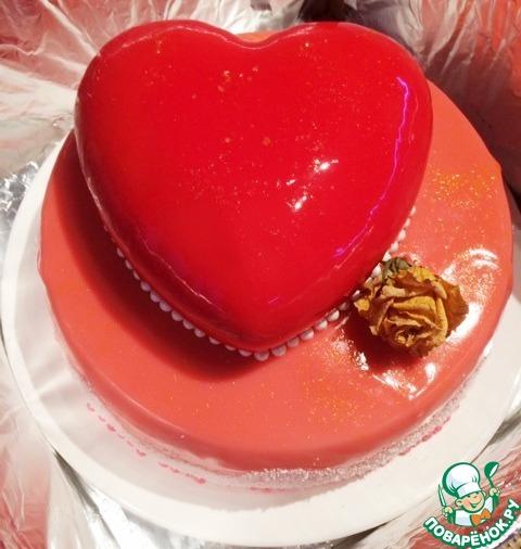 Муссовый торт с зеркальной глазурью рецепт с пошагово 134