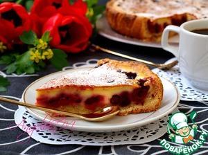 Рецепт: Заливной пирог с ягодами
