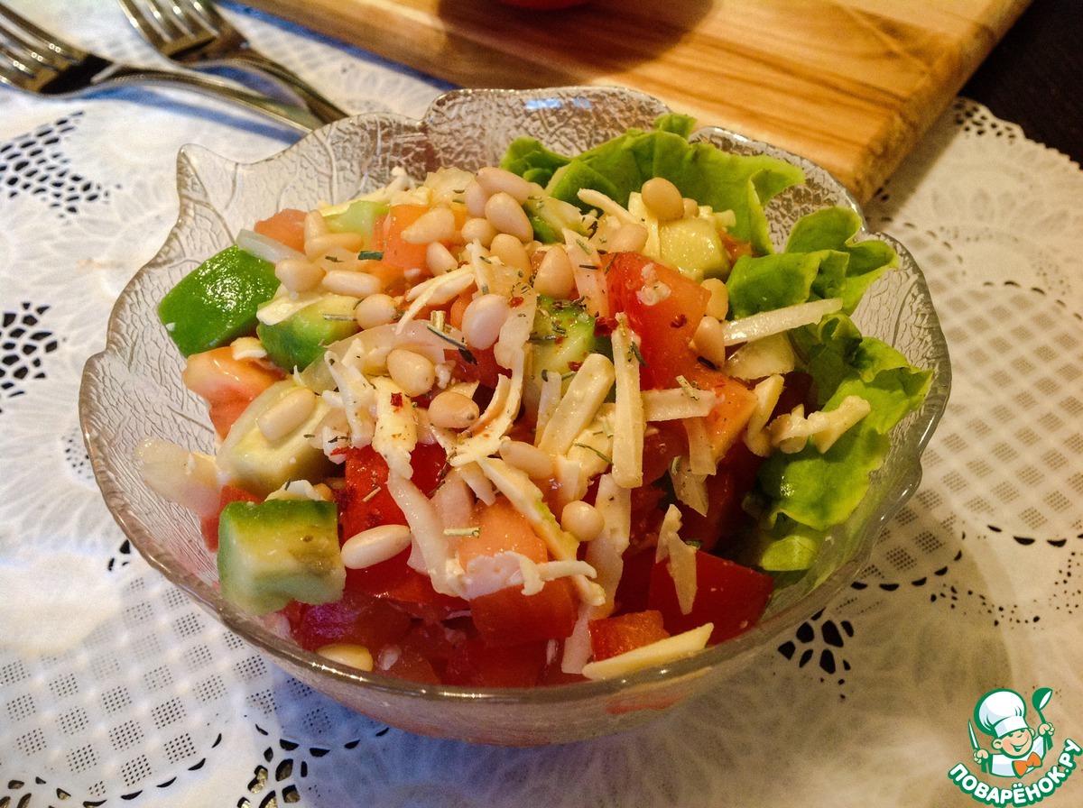 Салат с кедровыми орешками рецепт простой