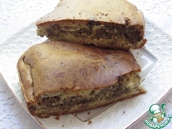 Заливной пирог с печенью рецепт