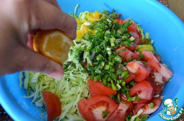 Простой легкий рецепт салата к мясу