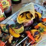 Печеные овощи в соевом соусе