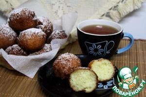 Рецепт: Творожные пончики