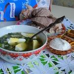 """Суп рисовый с крапивой """"Витаминный"""""""