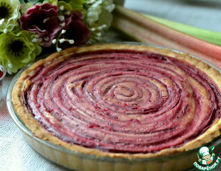 Рецепт: Тарт с творогом и ревенем