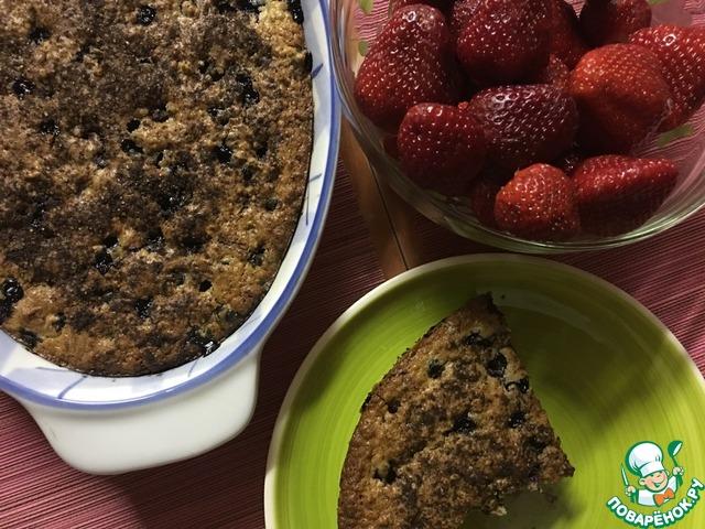 пирог с черной смородиной замороженной рецепт