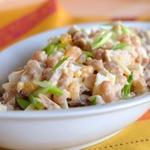 Салат мясной с консервированной фасолью