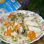 Куриное филе с рисом и грибами