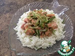 Рецепт: Красная рыба с огурцом и рисом