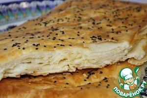 Рецепт: Турецкие слоеные лепешки