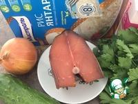 Красная рыба с огурцом и рисом ингредиенты