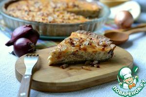 Рецепт: Луковый киш с грушей и брынзой