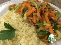 Салат с жареным огурцом и курицей ингредиенты