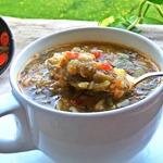 Суп щавелевый с рисом