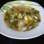 Куриный суп с крапивой и щавелем
