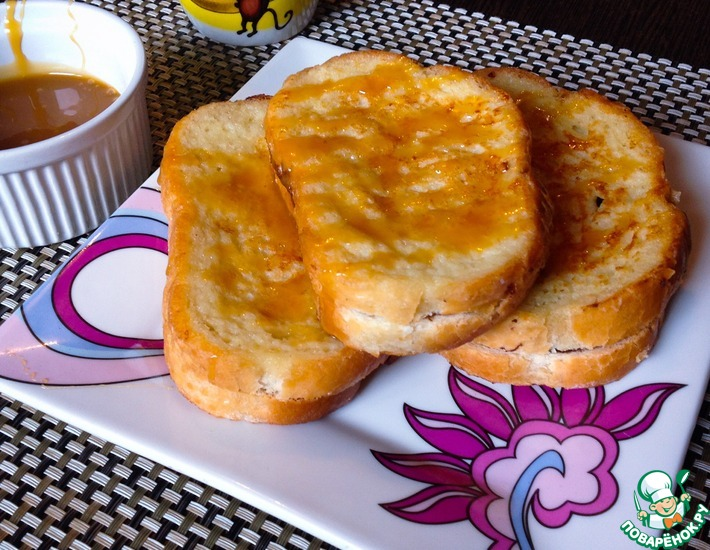 Рецепт: Гренки для завтрака с нутеллой