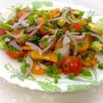 Пикантный салат с авокадо