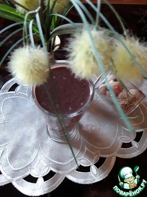 Рецепт: Банановый коктейль с какао от простуды
