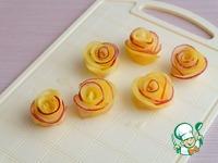 Булочки с яблочными розами Сахарная пудра