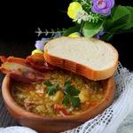 Суп чечевично-гороховый