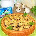 Пирог с капустой и шампиньонами